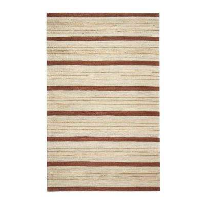 Supplication Brown 9 ft. x 12 ft. Area Rug