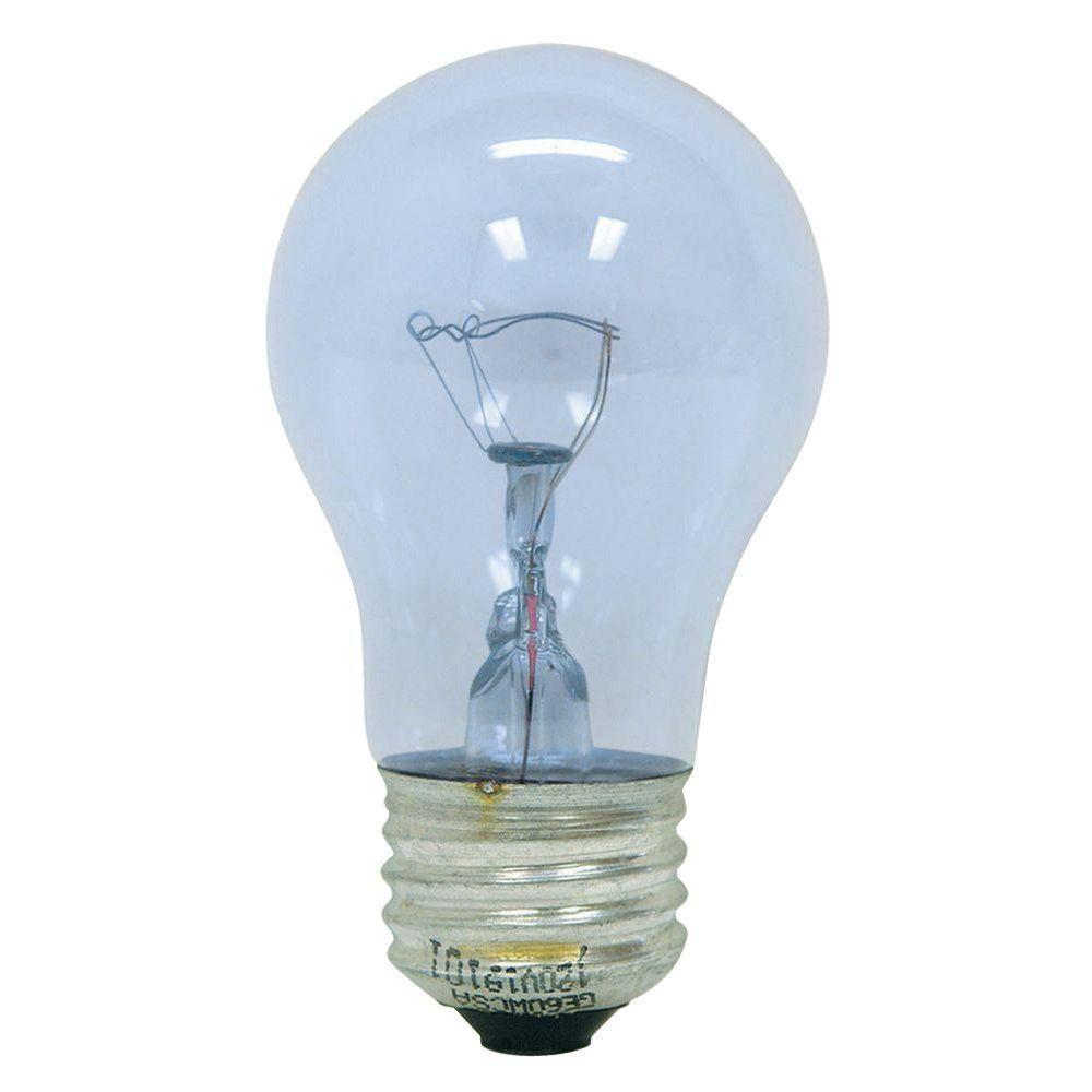 GE Reveal 40-Watt Incandescent A15 Ceiling Fan Clear Light Bulb (2-Pack)
