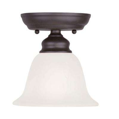 Providence 1-Light Bronze Incandescent Semi-Flush Mount