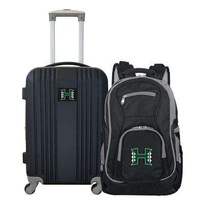 NCAA Hawaii Warriors 2-Piece Set Luggage and Backpack