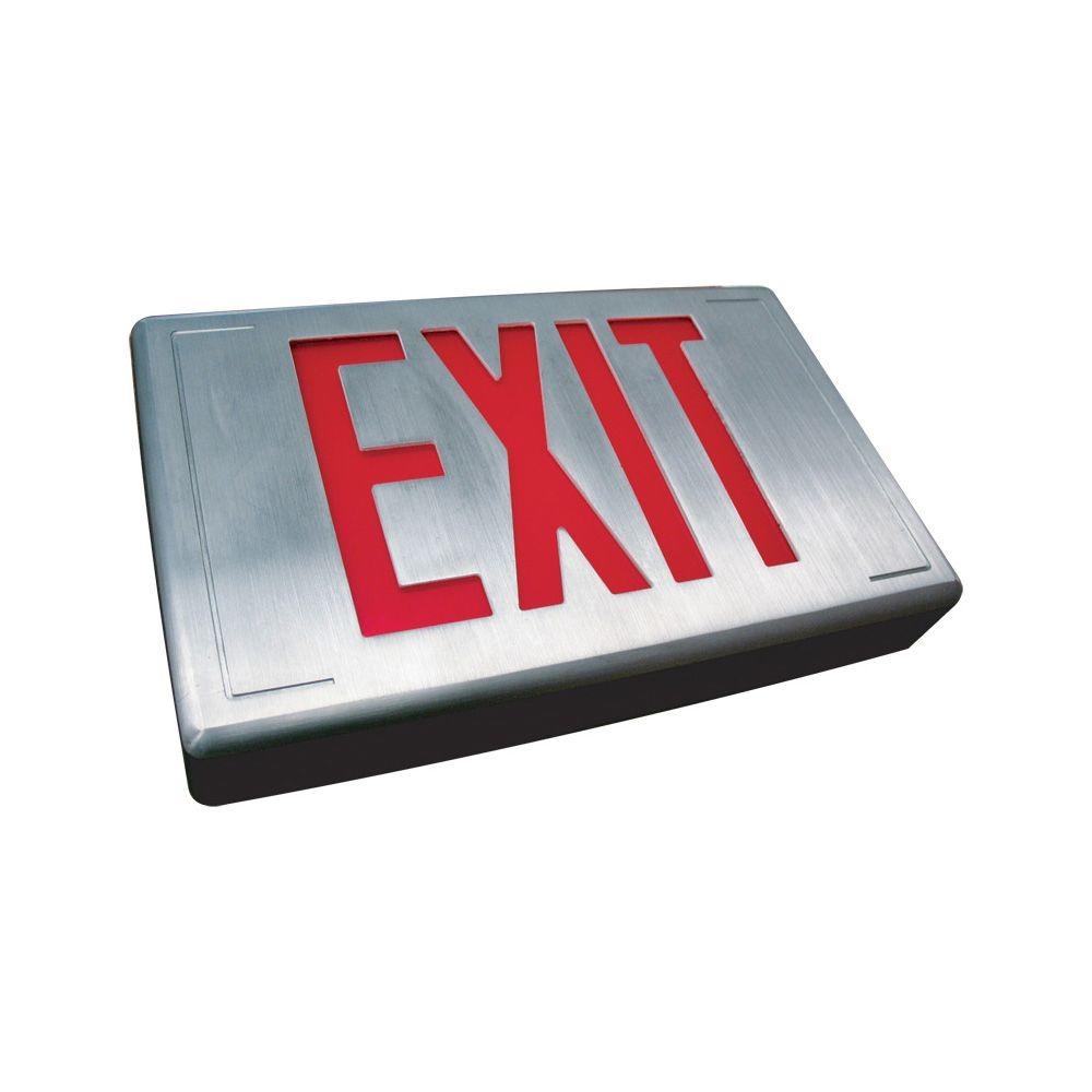 Filament Design Nexis 1 Light Die Cast Aluminum LED Universal Single Face RED Emergency Exit Sign