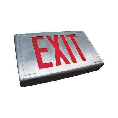 Nexis 1 Light Die Cast Aluminum LED Universal Single Face RED Emergency Exit Sign