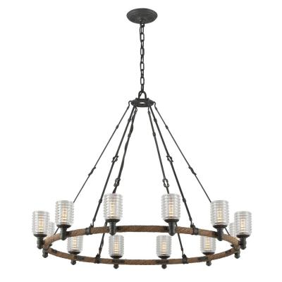 Embarcadero 12-Light Shipyard Bronze Pendant