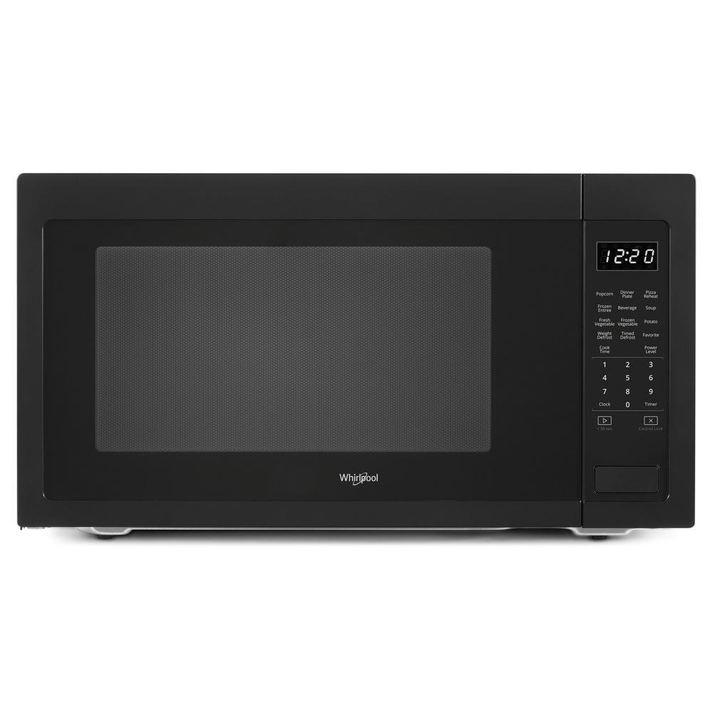 2.2 cu. ft. Countertop Microwave in Black with 1,200-Watt Cooking Power