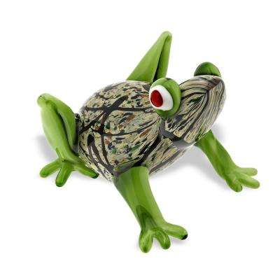 Murano Style Art Glass 6 in. L x 5 ft. H Frog
