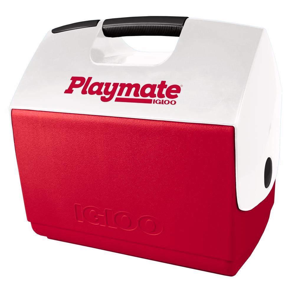 IGLOO IGLOO Playmate Elite Ultra 16 Qt. Comfort Grip Cooler, Red & white