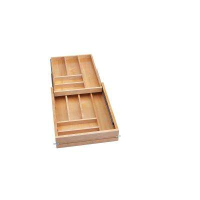 3.75 in. H x 16.5 in. W x 22.68 in. D Tiered Cutlery Drawer with Soft-Close Slides for frameless