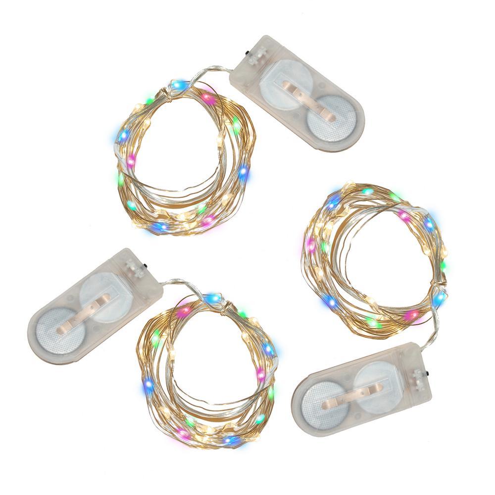 20-Light Mini Waterproof LED Multi- Color String Light (3-Pack)
