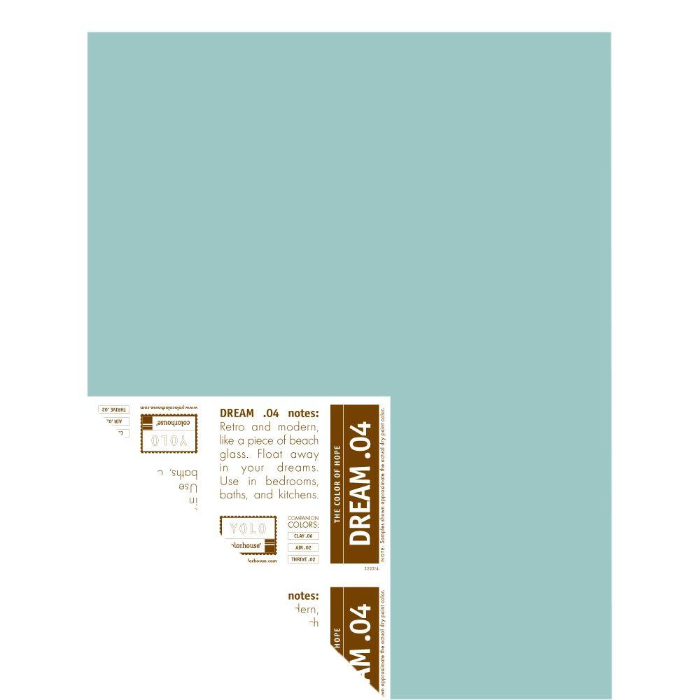 YOLO Colorhouse 12 in. x 16 in. Dream .04 Pre-Painted Big Chip Sample