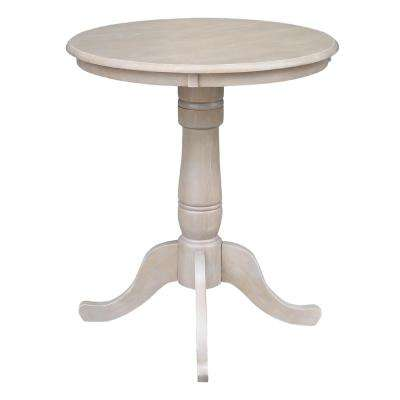 Weathered Taupe Gray Solid Wood Counter Height Table