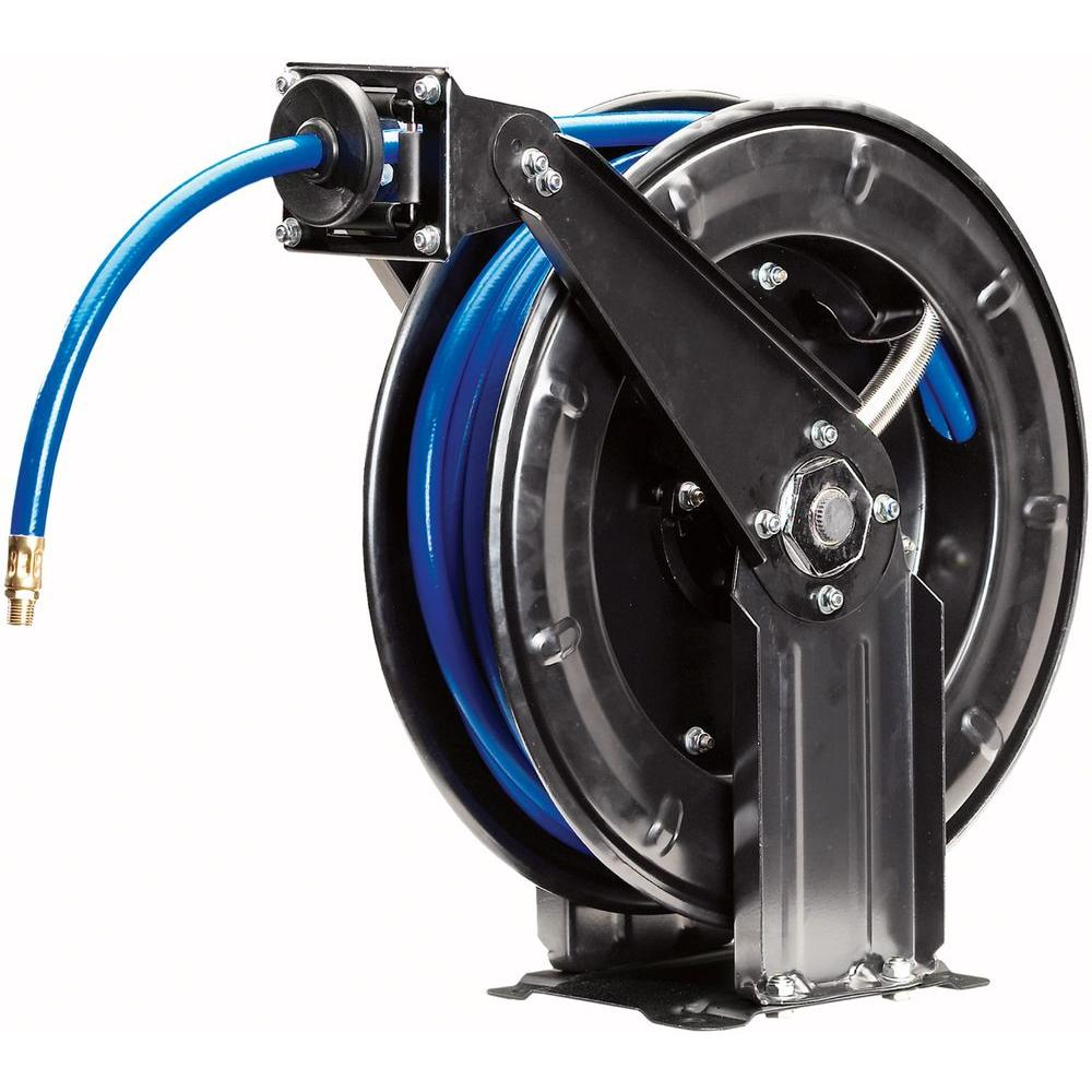 Campbell Hausfeld 50 ft. x 3/8 in. PVC Retractable Hose Reel with Hose