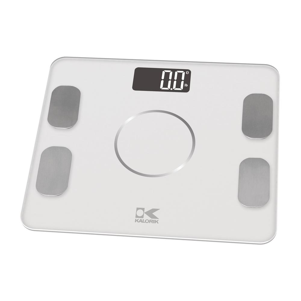 Incroyable KALORIK Bluetooth Electronic Body Fat Scale In White