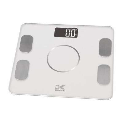 Bluetooth Electronic Body Fat Scale in White