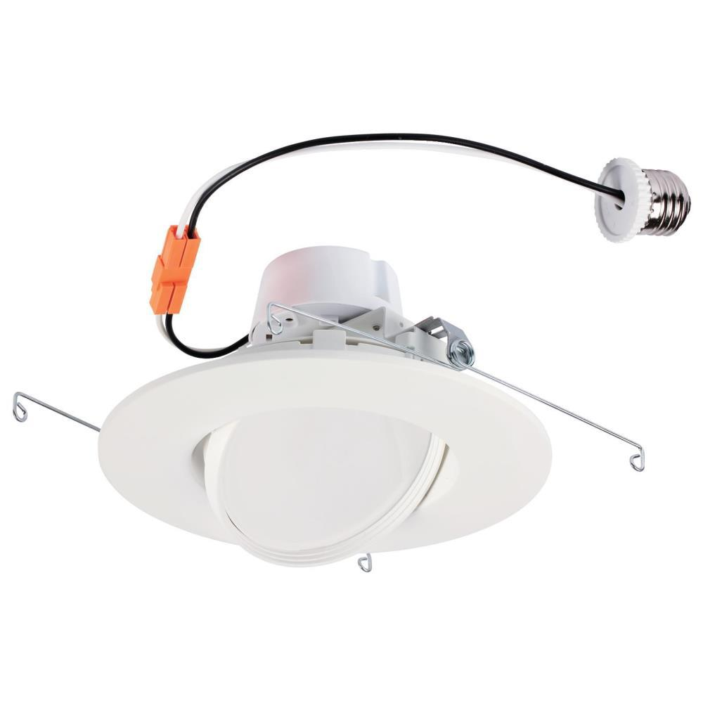 6 Inch Par30 Adjustable Gimbal Ring Trim White Recessed: Westinghouse 6 In. White Integrated LED Recessed Trim