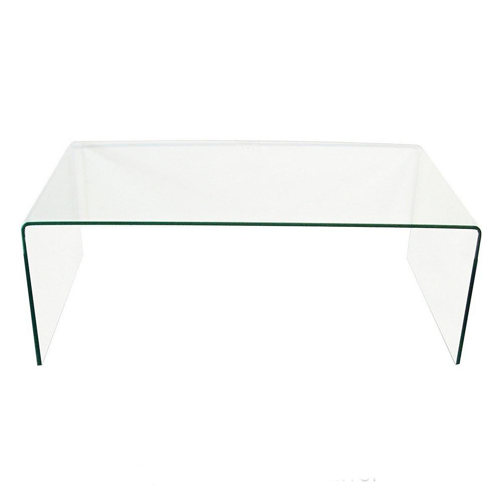 Fab Glass And Mirror 3/8 In. Thick Clear Bent Glass Coffee Table