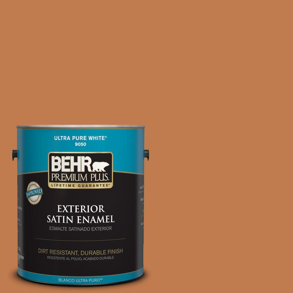 1-gal. #260D-6 Chai Spice Satin Enamel Exterior Paint