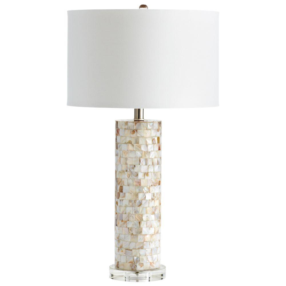 Filament Design Prospect 29 in. Clear Mother of Pearl Table Lamp