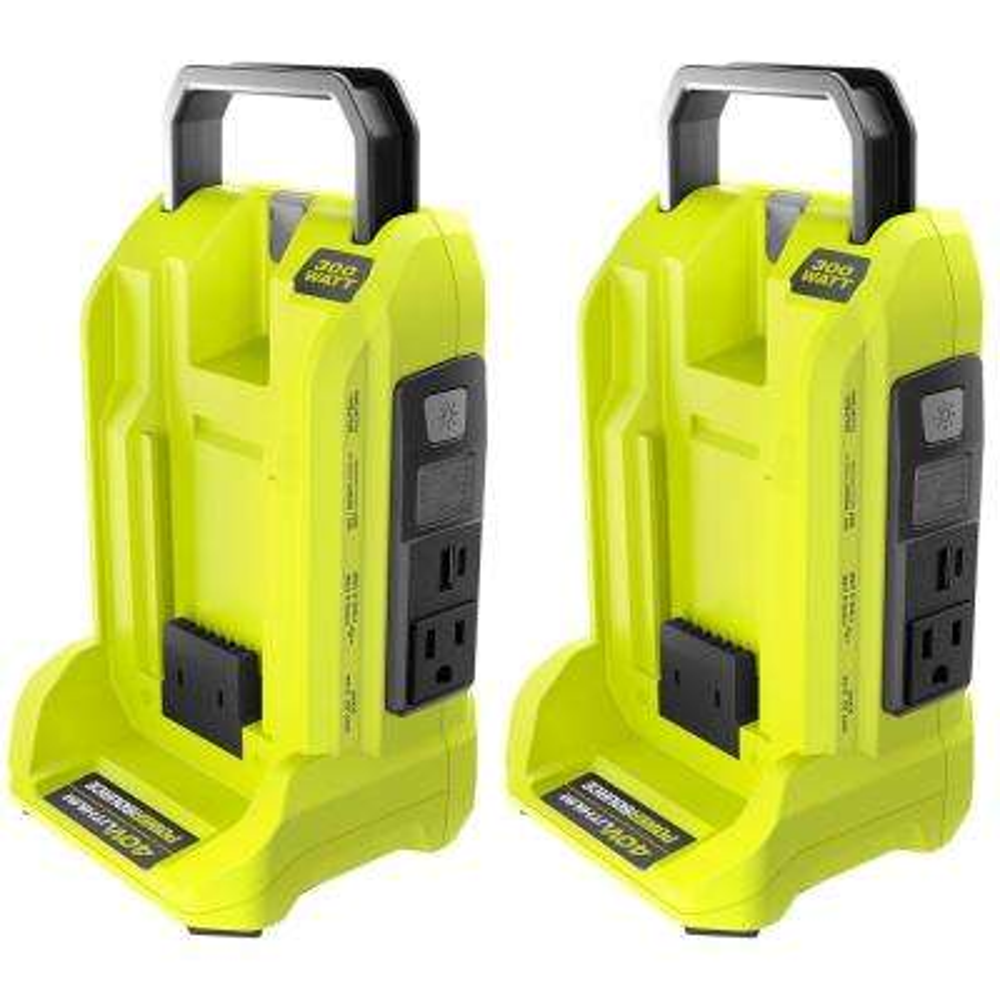 Two 300-Watt Powered Inverter for 40-Volt Battery