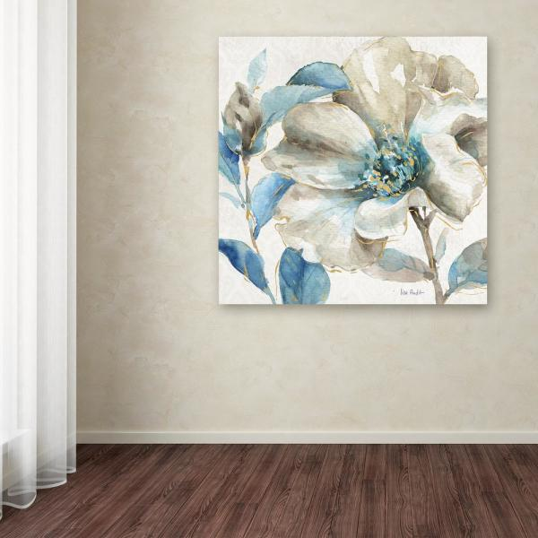 35 in. x 35 in. ''Indigold IV'' by Lisa Audit Printed Canvas Wall Art