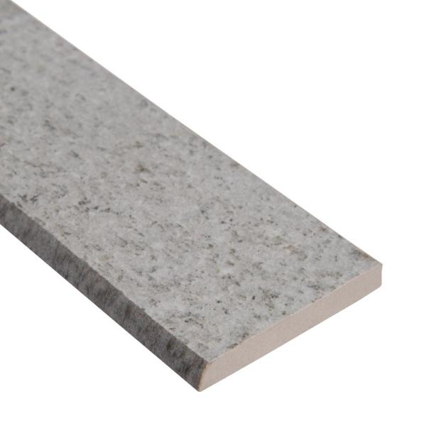 2.4 in. x 24 in. Brixstyle Glacier Bullnose Matte Porcelain Wall Tile (24 lin. ft. / case)