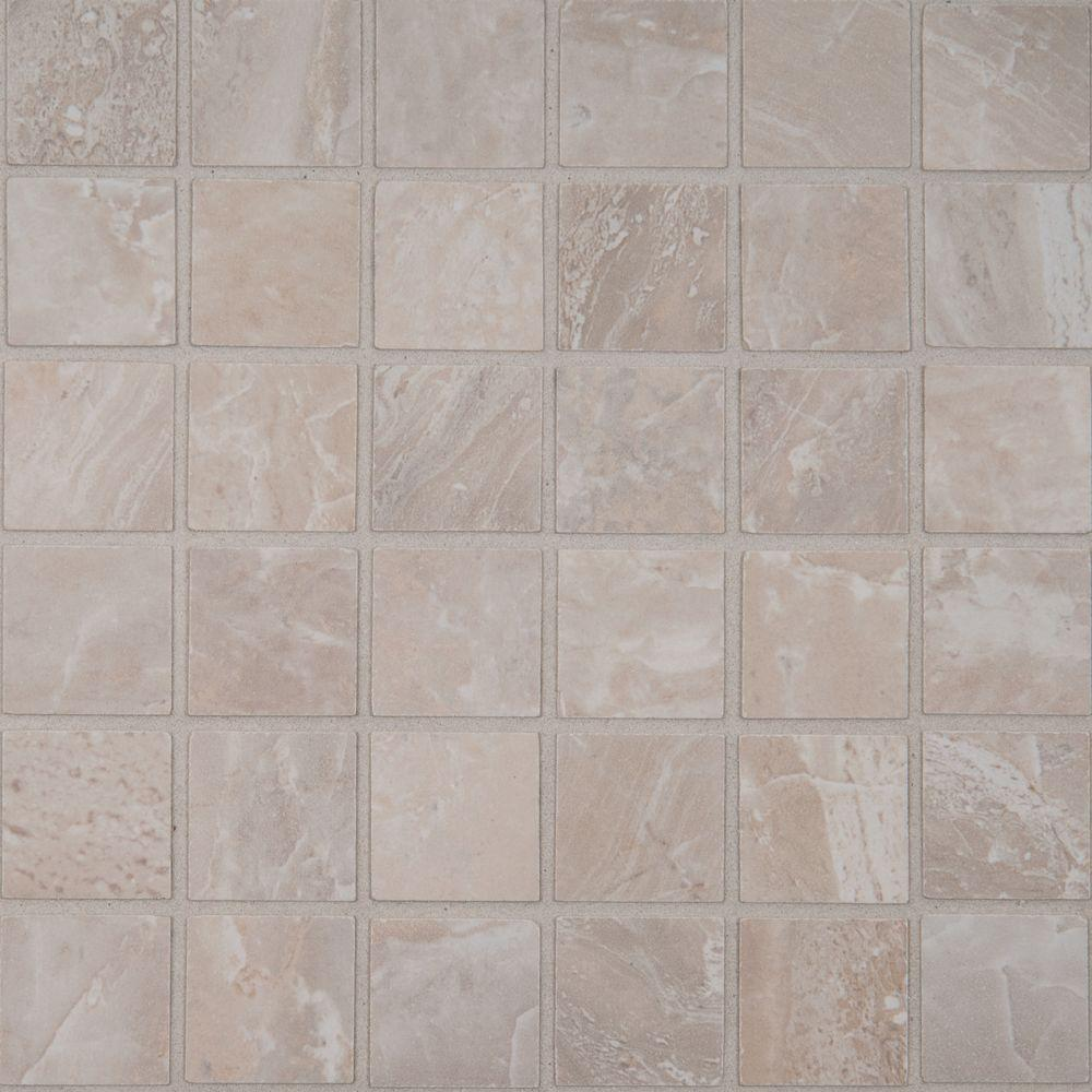Kitchen floor ms international mosaic tile tile the home depot onyx grigio 12 in x 12 in x 10 mm glazed porcelain mesh dailygadgetfo Image collections