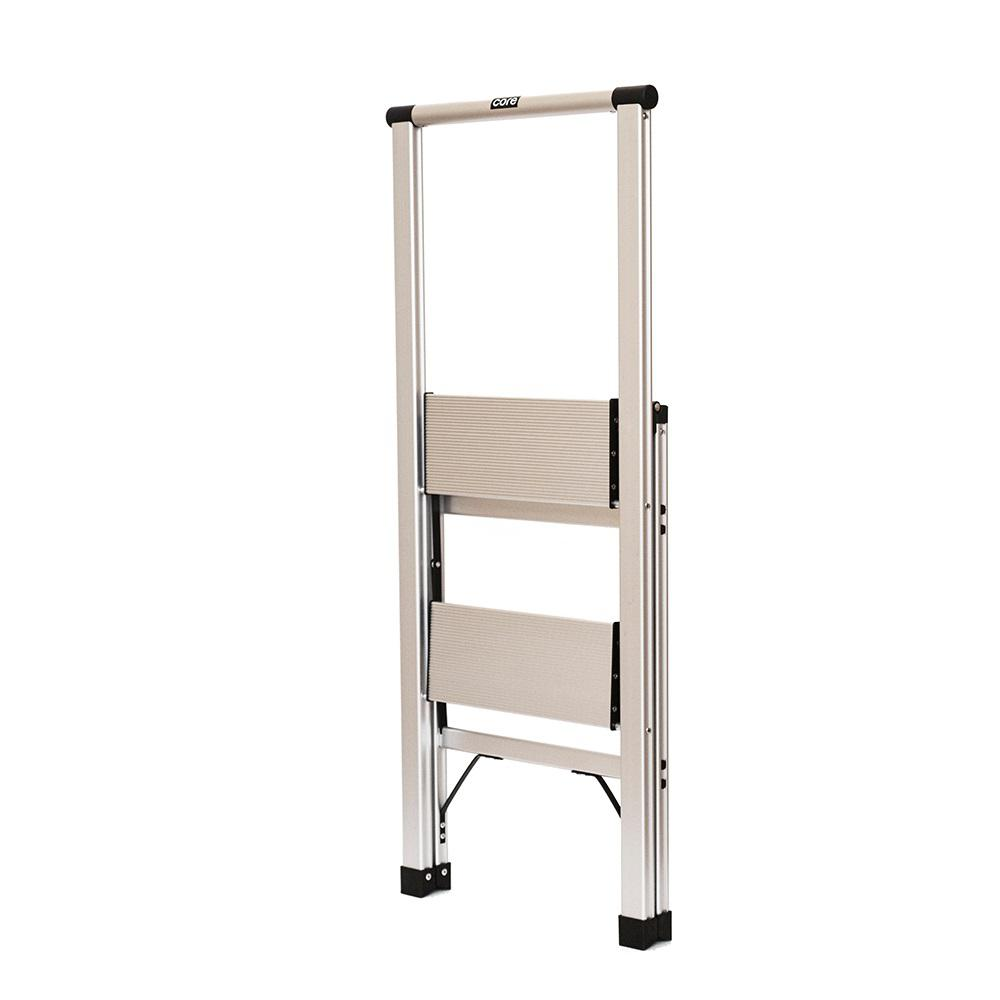 Prime Xtend And Climb 2 Step Slimline Aluminum Light Step Stool With 225 Lb Load Capacity Type 2 Duty Rating Squirreltailoven Fun Painted Chair Ideas Images Squirreltailovenorg