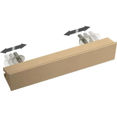 Inclination 1 in. to 4 in. (25 mm to 102 mm) Champagne Bronze Adjustable Drawer Pull