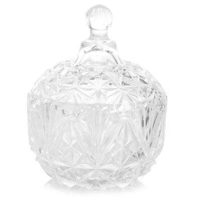 Jewelite 5.75 in. Clear Glass Serve Bowl with Lid