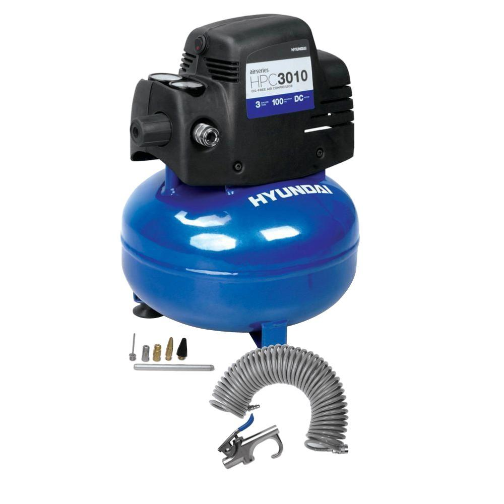 Hyundai 3 gal. Air Compressor Kit