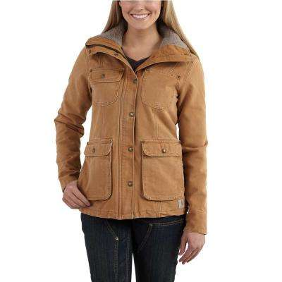 c94473da4cf Women's Medium Carhartt Brown Weathered Duck Wesley Coat