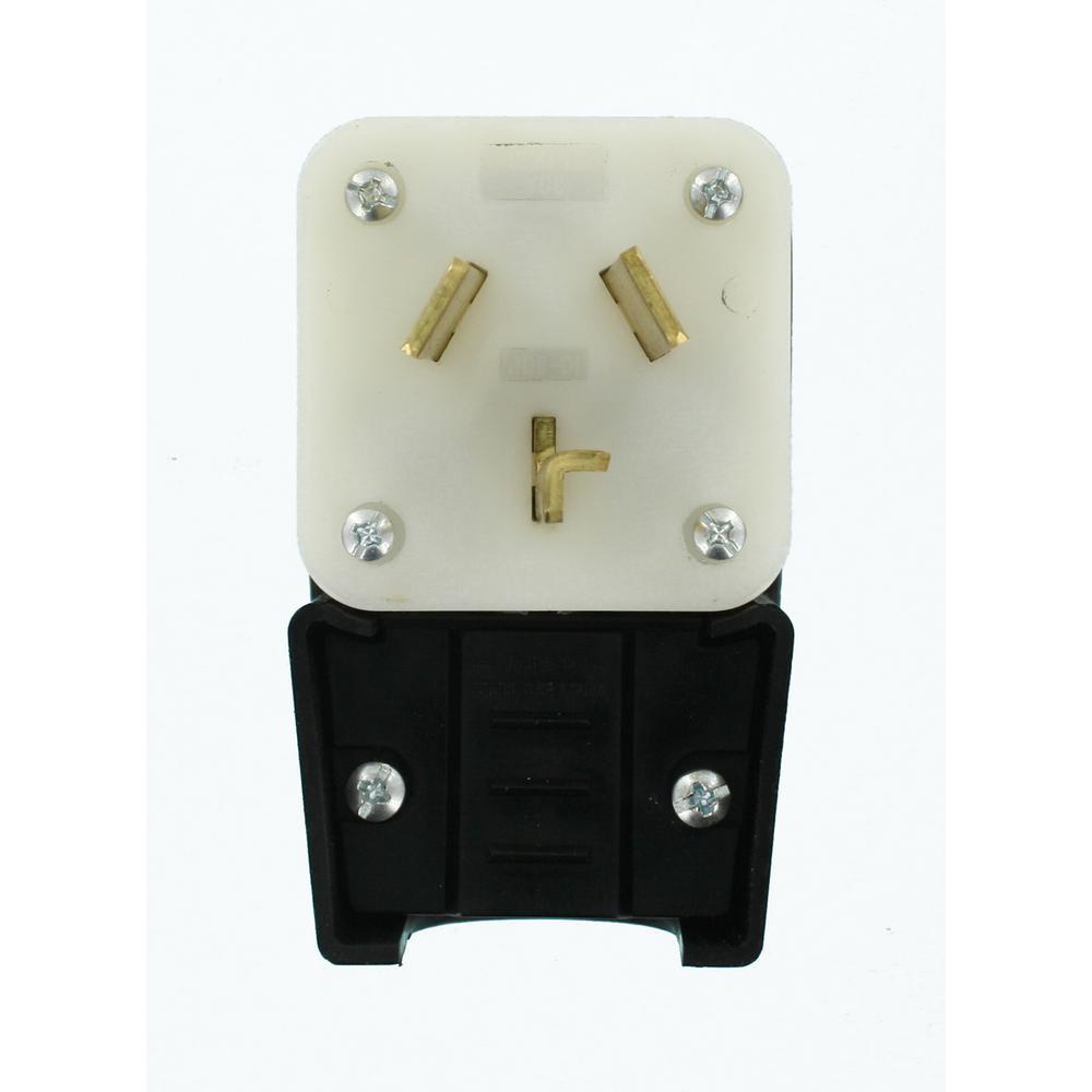 Leviton 20 Amp 125/250-Volt Straight Blade Range Plug, Black by Leviton