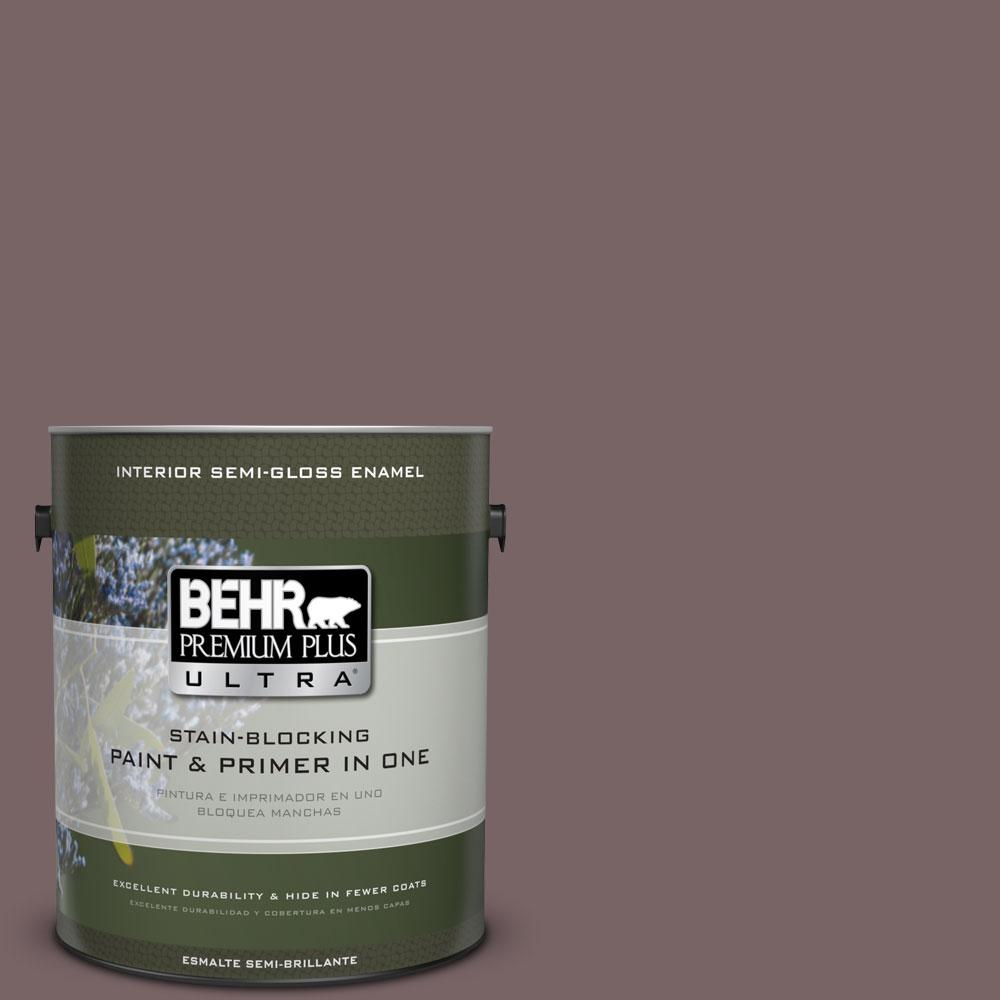 BEHR Premium Plus Ultra 1-gal. #PPU1-3 Tibetan Temple Semi-Gloss Enamel Interior Paint