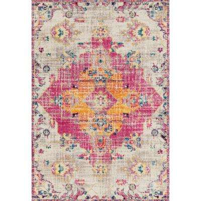 Abigail Seraphina Magenta 5 ft. x 7 ft. Area Rug