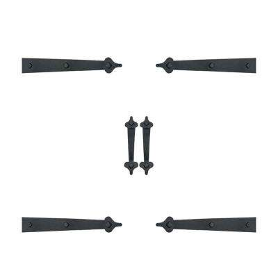 Ultra-Life Magnetic Decorative Carriage-Style Garage Door Accent Trim Hardware (4-Hinges, 2-Handles)