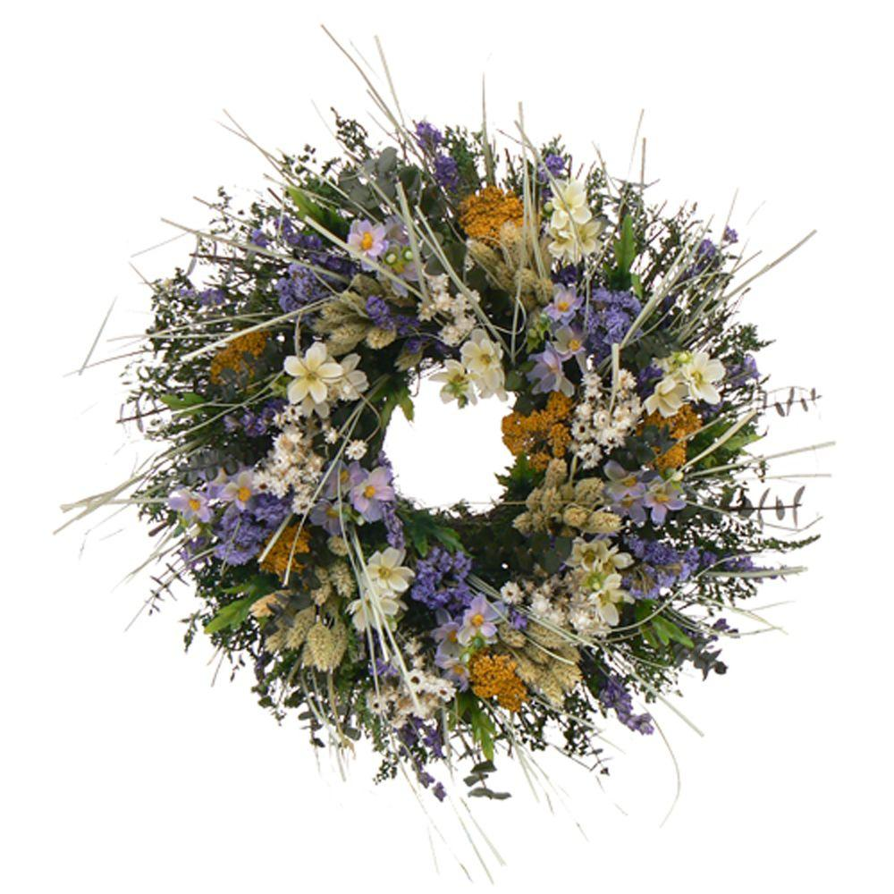 The Christmas Tree Company Awaken Spring 18 in. Dried Floral Wreath-DISCONTINUED