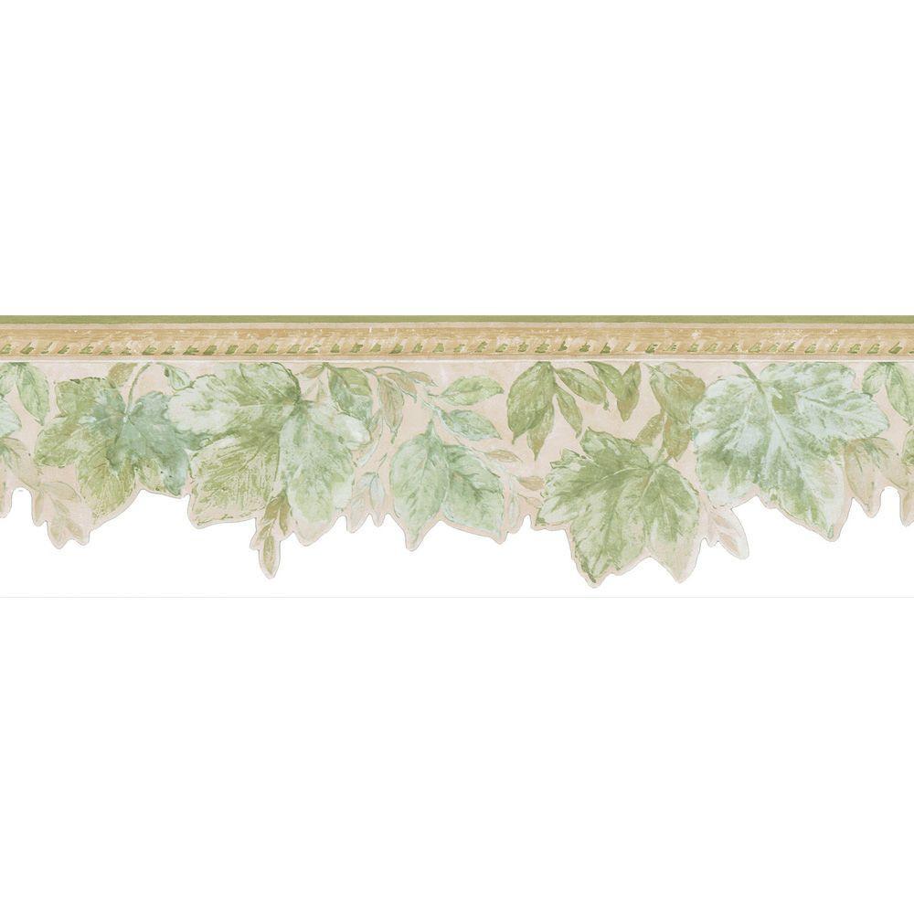Acanthus Green Leaves Wallpaper Border