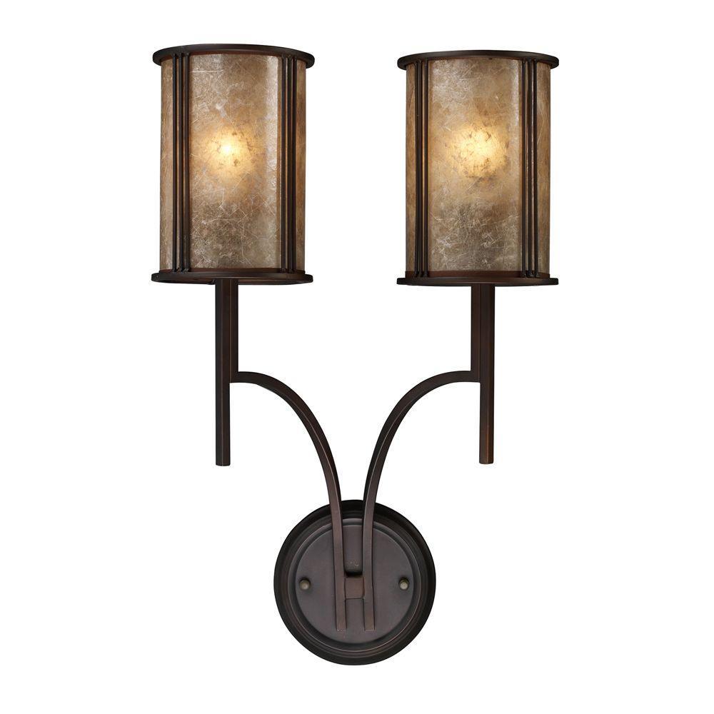 Titan Lighting Barringer 2-Light Aged Bronze Sconce