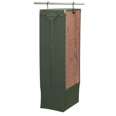Natural Eastern Red Cedar Green Canvas Extra-Long - Tall Hanging Garment Bag