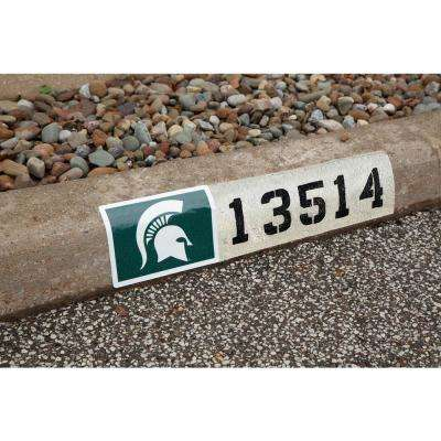 NCAA Michigan State Spartans Address Logo Graphic