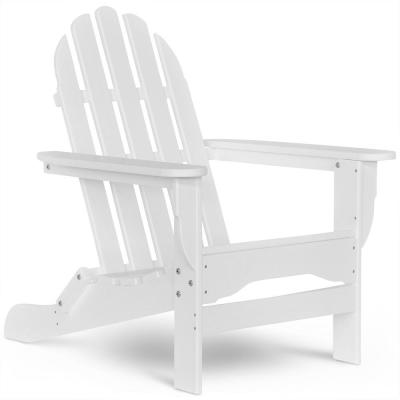 Icon White Non-Folding Plastic Adirondack Chair