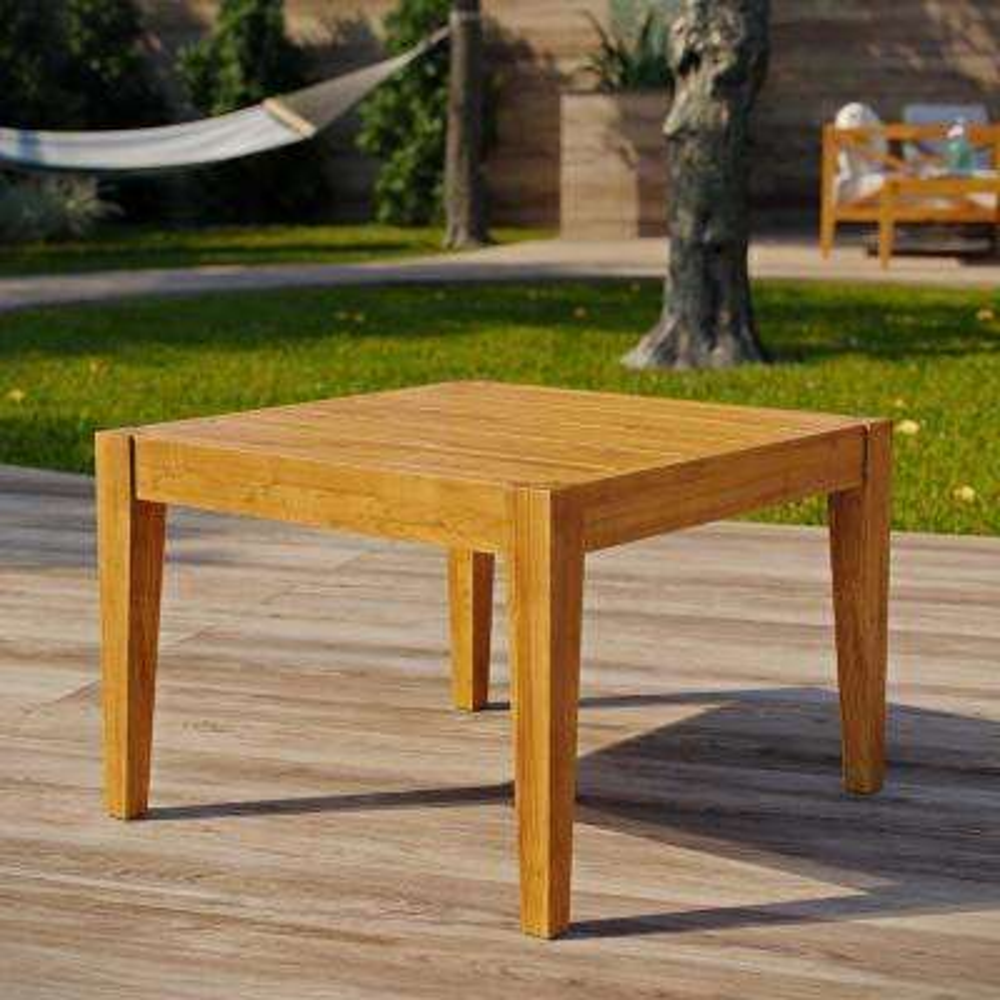 Northlake Natural Grade A Teak Wood Outdoor Side Table