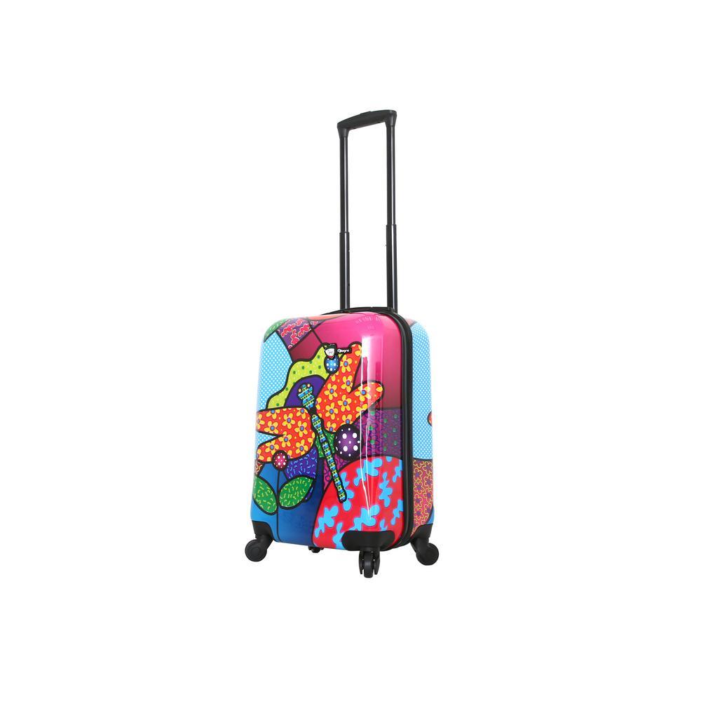Allegra 20 in. Pop Dragonfly Spinner Suitcase