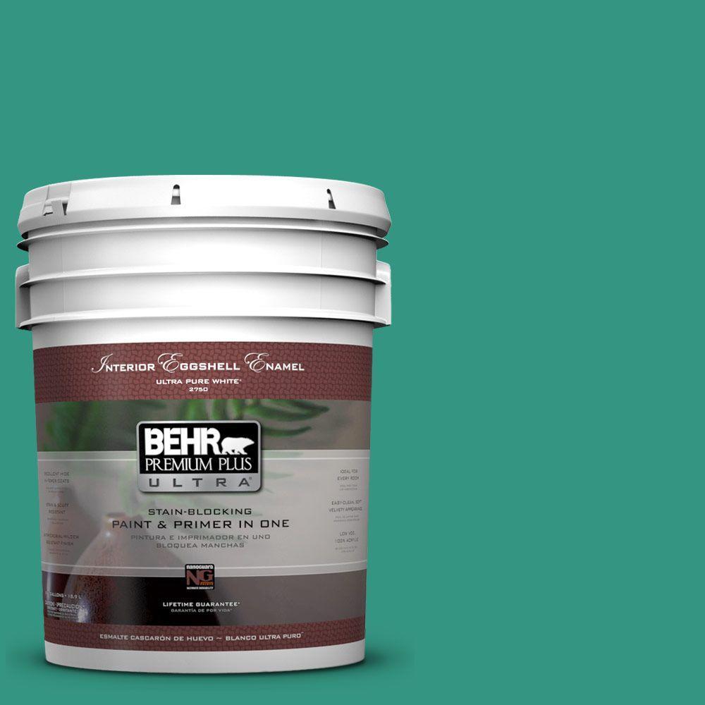 BEHR Premium Plus Ultra 5-gal. #P440-6 Esmeralda Eggshell Enamel Interior Paint