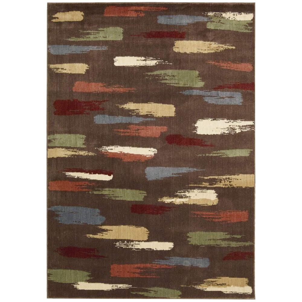 Nourison Expressions Chocolate 2 ft. x 2 ft. 9 in. Accent Rug