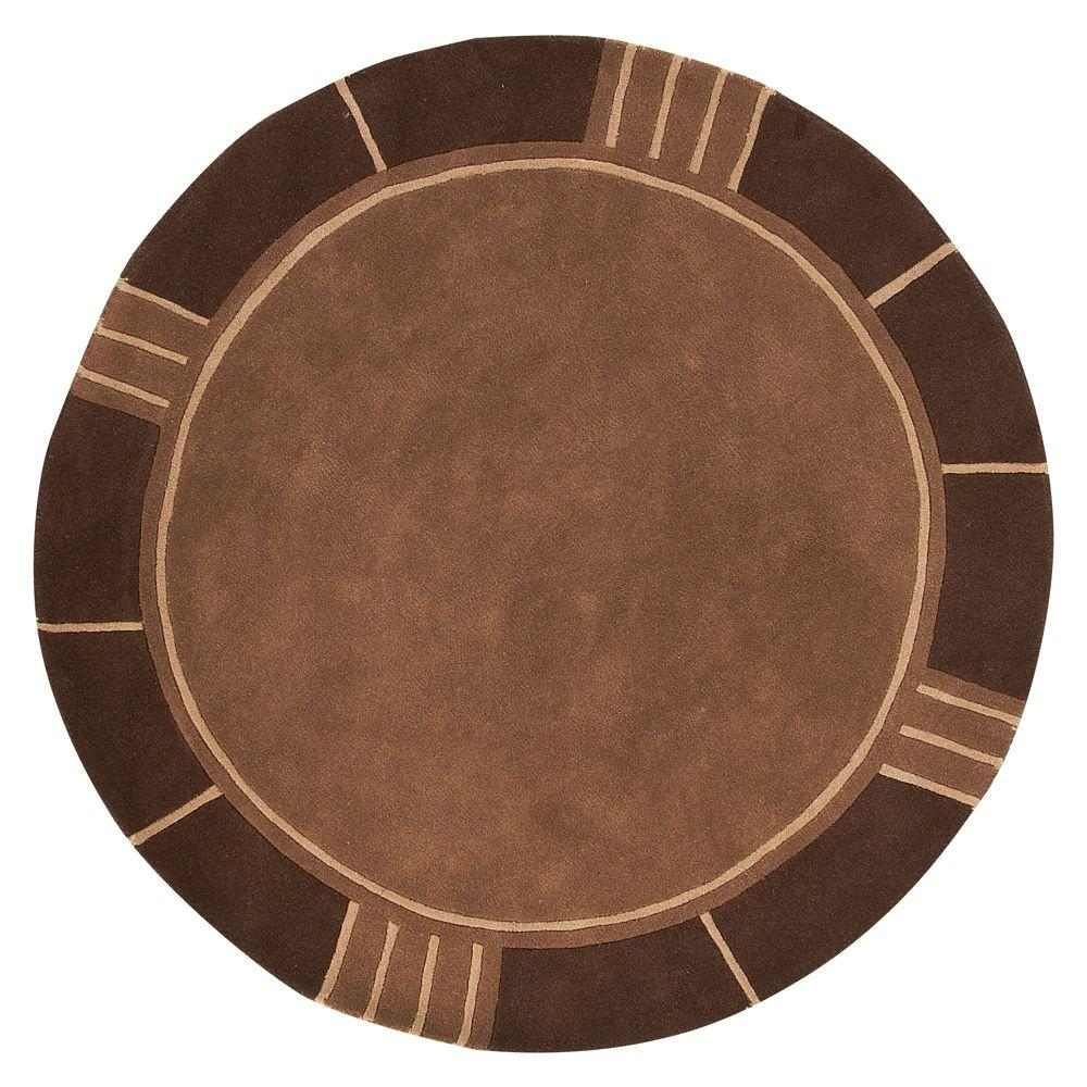 Home Decorators Collection Plaza Brown 5 ft. 9 in. Round Area Rug