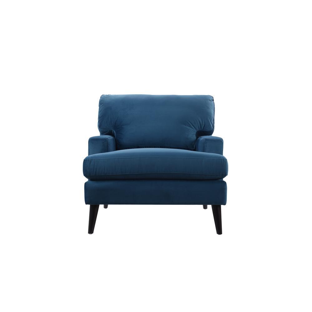 Jennifer Taylor Enzo Satin Teal Lawson Accent Chair 63330-1-867