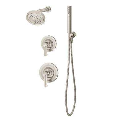 Museo 2-Mode 1-Spray Hand Shower and Shower Head Combo Kit in Satin Nickel