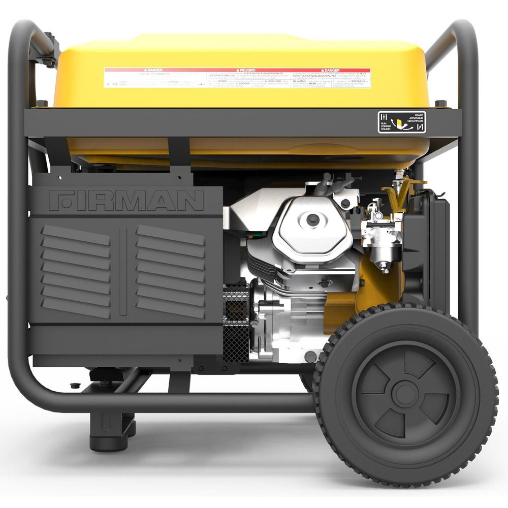 Firman 10000/8000-Watt 120/240V 30/50A Remote Start Gas Portable Generator  cETL Certified With Cover