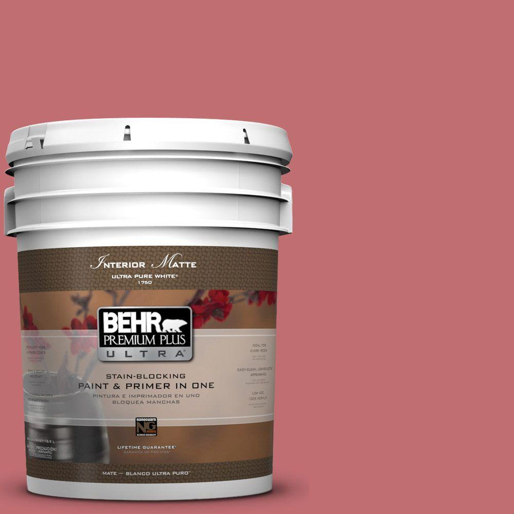5 gal. #HDC-SP14-8 Art House Pink Matte Interior Paint