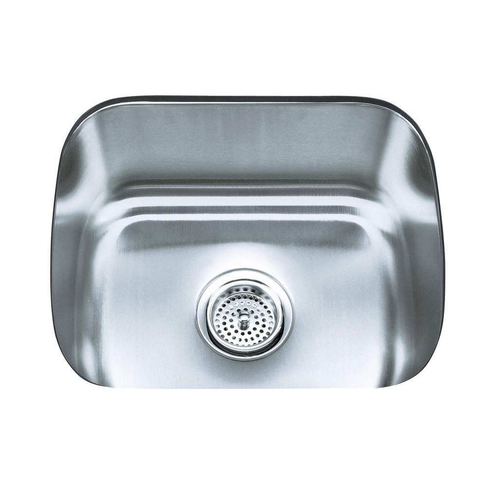 KOHLER Undertone Undermount Stainless Steel 19 in. Single Bowl ...